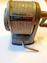 Vintage Berol Vacuhold V8 Apsco Manual Desktop Manual 6 Hole Pencil Shar... - $11.24