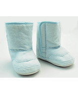 Toddler Baby Boys Booties Blue Slip On Fur Lined Boots Size 6 - 12 Months - $13.64