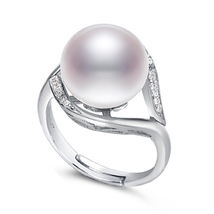 Huge Pearl Ring 11.5-12mm White Freshwater Pearl & Sterling Silver - $39.00