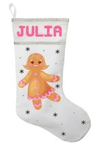 Gingerbread Girl Christmas Stocking - Personalized and Hand Made Gingerb... - $29.99