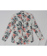 Talbots blouse XS size Multi Color Floral Womens Career Casual Top Cotto... - $21.04