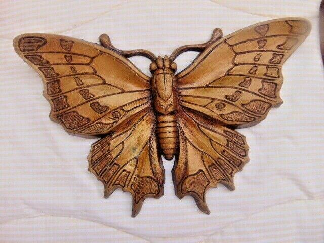 Butterflies Gold Universal Statuary 1972===These Are 47 Years Old========71 tote
