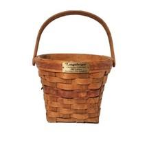 Vintage Signed Longaberger Basket 1988 Poinsettia Christmas Handwoven Basket  - $21.20