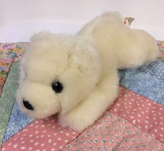 "Aurora World Polar Bear Laying Down White Plush 8"" Stuffed Animal Lovey - $8.91"