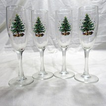 Nikko Happy Holiday Christmas Tree Set of 4 Champagne Flutes in Box 6 oz.  - €22,65 EUR