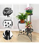 Metal Plant Stand Shelf Holds 3-Flower Pot Racks Home Yard Garden Patio ... - $47.00