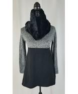 Style & Co Damen Porto und Versand Schal Tunika Pullover Kunstpelz Grau ... - $34.91
