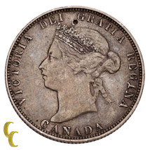 1874-H Canada 25 Cents Coin (VF) Very Fine Condition - $68.31