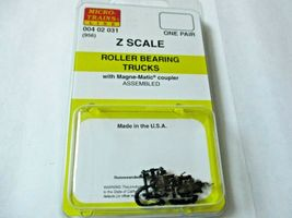 Micro-Trains Stock # 00402031 #956 Roller Bearing Trucks w/ Magnetic Couplers (Z image 3