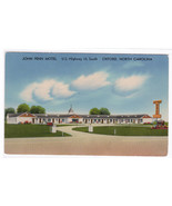 John Penn Motel Oxford North Carolina postcard - $3.96