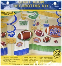 Amscan Football Birthday Assorted Decorating - $14.76