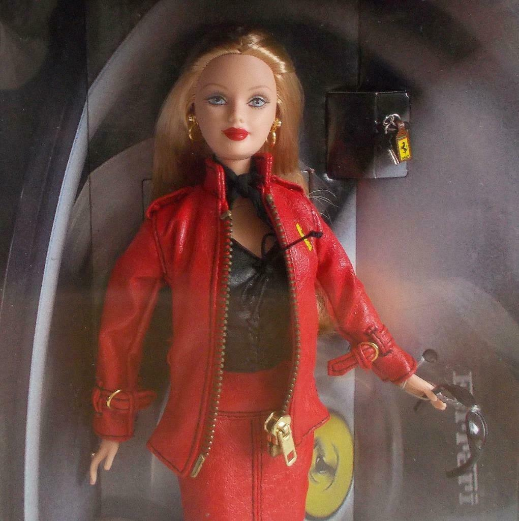 b4479fa8f2c Ferrari Barbie Collector Doll Pleather Red and 50 similar items. S l1600