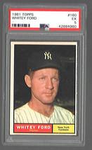 1961 Topps #160 Whitey Ford Yankees PSA 5 Ex - $26.06