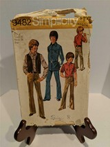 Vintage 1971 Simplicity 9482 Boys Vest Shirt and Pants Pattern Size 8 Used - $6.92