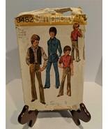 Vintage 1971 Simplicity 9482 Boys Vest Shirt and Pants Pattern Size 8 Used - $6.92