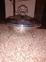 Antique Vintage Guildcraft Silversmiths Serving Bowl Dish With Lid - $7.55