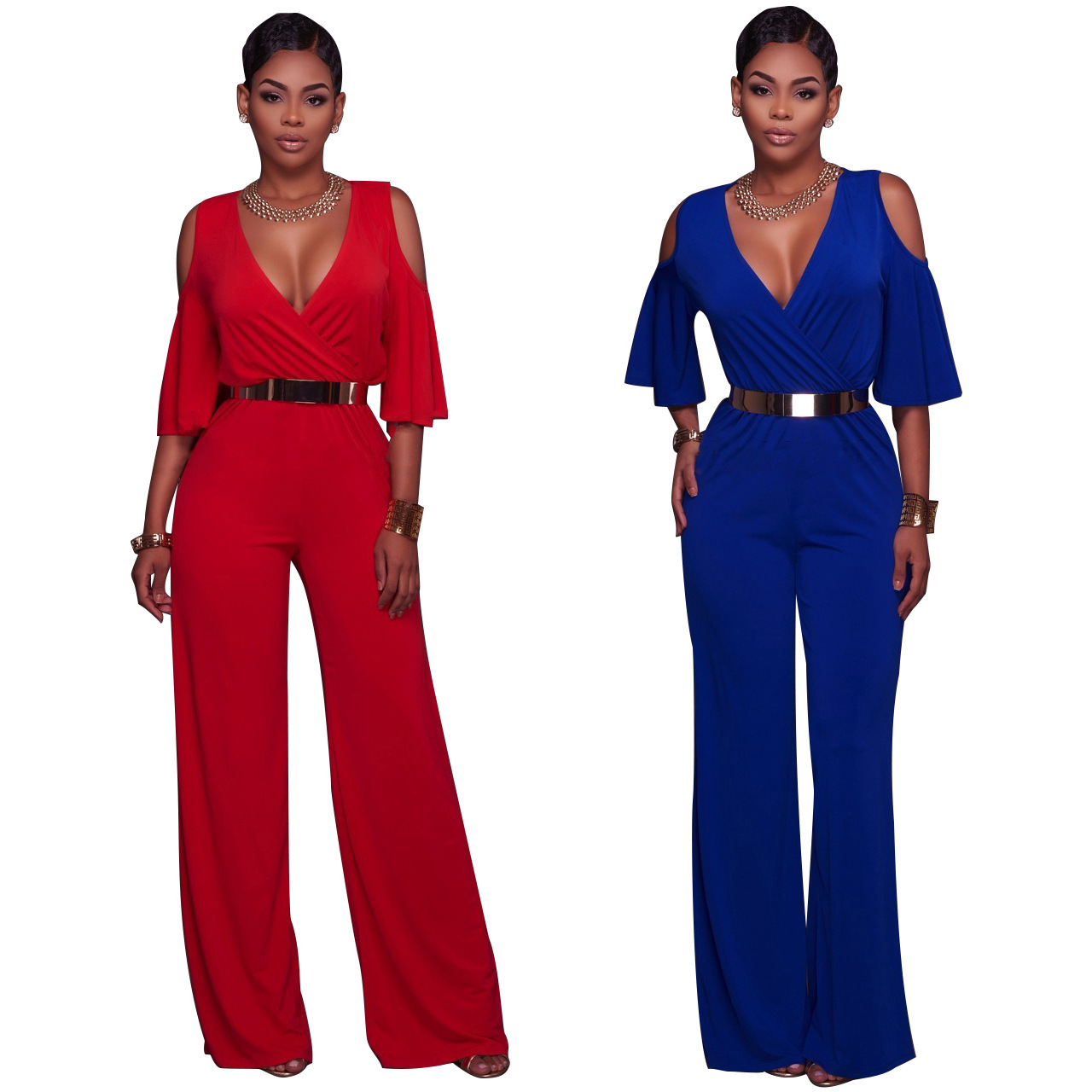 Polyester Solid Fashion sexy Jumpsuits for sale  USA