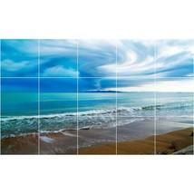 Beach Photo Tile Murals BZ30014. Kitchen Backsplash Bathroom Shower Wall Murals - $150.00+