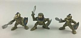 Fisher Price Great Adventures Castle Golden Knight Figures 3pc Lot Vintage 1994 - $26.68