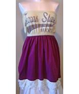 Texas State Bobcats Size XL Tube Dress Maroon - $24.99