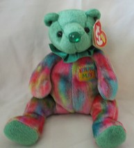Ty Beanie Baby May Birthday Bear Emerald Green USED - $4.94