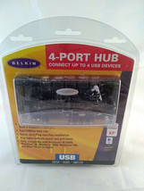 Belkin F5U021 4-Port Hub with Adapter and USB Cable Power Supply New - $14.99