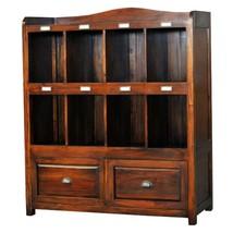 Bramble 24097 Vintage Brown Hancock Storage Cabinet Solid Wood Special Order