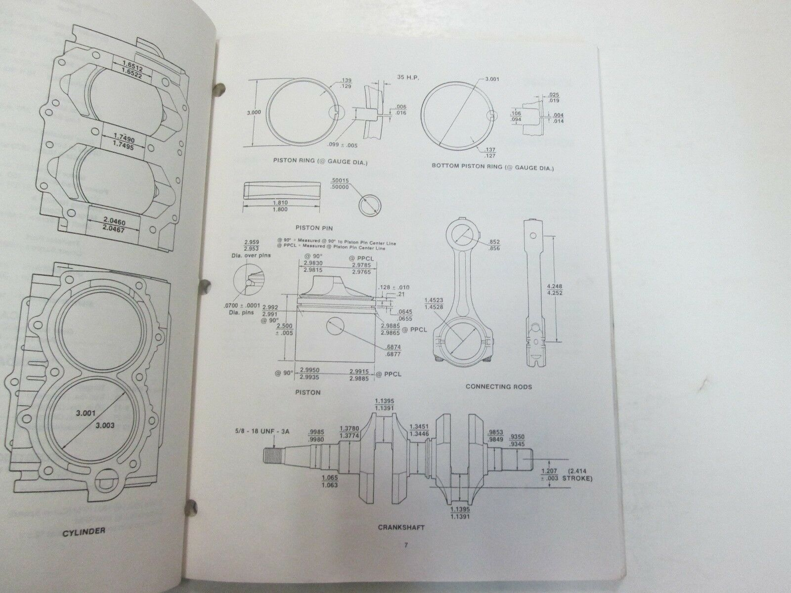 1984 1985 1986 Force Outboards 35 HP Outboard Motors Service Manual STAIN WORN** image 6