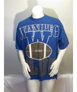 Winnipeg Blue Bombers Shirt (VTG) - 1990s Oversized Graphics - Men's XL - $59.00