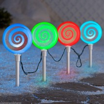 2 SETS Gemmy Lightshow Synchro LED Pathway Lights Christmas Yard Decor - £42.23 GBP