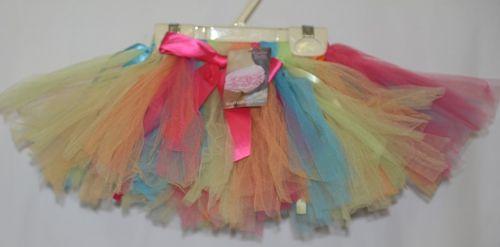 Ruffle Butts Rainbow Tulle Tutu Elastic Waist Size 12 to 24 Months