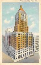 Philtower Building Tulsa Oklahoma 1947 linen postcard - $5.89
