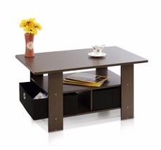 31.5x18.9x15.6in Coffee Table w Bins Dark Brown/Black Home Living Room F... - €52,46 EUR