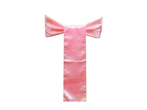 Elina Home Pack of 125 Satin Chair Cover Bow Sash Wedding Banquet Decoration (12
