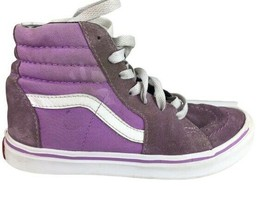 Vans Off The Wall Hi Top Skateboard Shoes / Lilac ( Size 2.5 ) Youth Shoes - $13.10