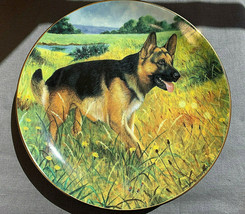 German Shepherd A Country Walk by Fitzgerald - Danbury Mint Collector Pl... - $28.66