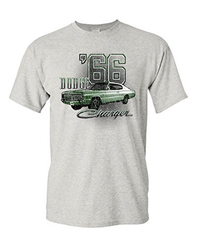 Primary image for Dodge Charger '66 T-Shirt American Classic Muscle Car Mens Tee Shirt Ash Gray S