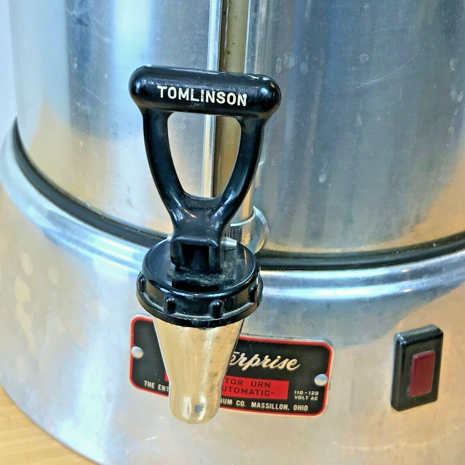 Vintage Enterprise Coffee Percolator 58 cup Urn Model AP48N WORKS Glass Knob LB image 4