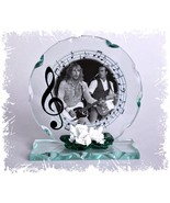 Rossi & Parfit Photo 'Status Quo' Cut Glass Round Plaque Limited Edition #4 - $34.64