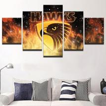 Hawthorn AFL Hawks 5 Piece Football Club Legend Home Decor Canvas Art Pr... - $11.95+