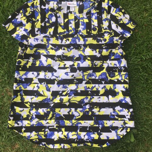Peter Pilotto for Target Women's Striped Floral Printed Patterned Blouse Shirt - $8.00