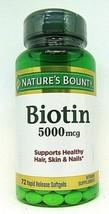 Nature's Bounty Super Potency Biotin 5000mcg  150 softgels - $19.79
