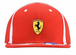 Puma Ferrari Men's SF Adjustable Sport Flatbrim Snapback Hat Cap 02153801 image 3