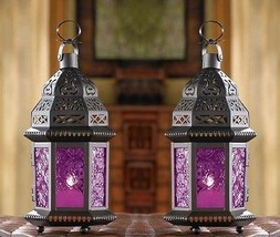 "Mulberry Moroccan Candle Lantern 10 1/4"" tall (Set of 2) Wedding Supplie... - $32.50"