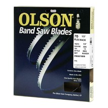 Olson Craftsman 70-1/2 Inch x 1/8 Inch 14 TPI Flex Back Band Saw Blade - $29.99