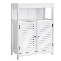 VASAGLE Bathroom Storage Floor Cabinet Free Standing with Double Shutter... - $110.11