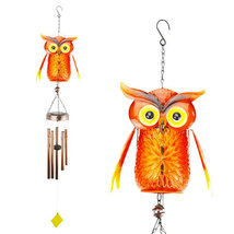 Solar Twinkling LED Light Owl Wind Chime - $42.98