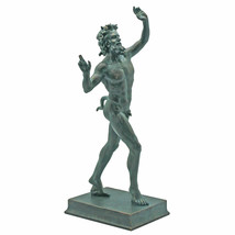 "Large Pompeii Satyr Faunus Bacchus Sculpture Forest God 10.5"" Statue - $53.63"