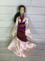 Mattel Disney Princess Mulan Doll With Asian Dress Outfit 2006 Great for... - $11.87