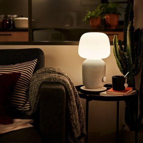 SYMFONISK Table lamp with WiFi speaker, white image 5
